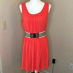 By & By Dress, Coral, Juniors Large